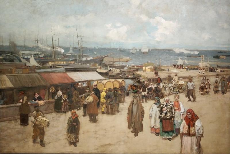 К.Коровин. Базар у пристани в Архангельске. 1896. ГТГ.