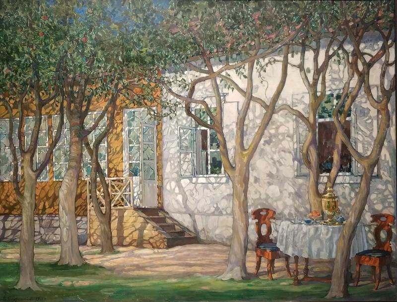 В.Плотников. Игра теней.1911. Пермская государственная художественная галерея.