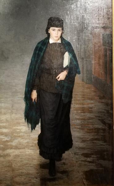 Н.Ярошенко. Курсистка. 1883. Калужский музей изобразительных искусств.