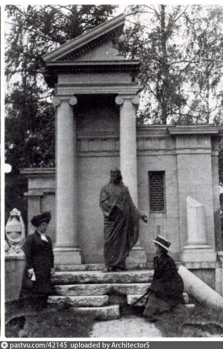Усыпальница Вогау на Немецком кладбище в Москве. Фото 1914 г.