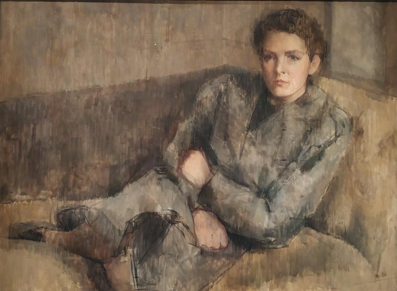 Уильям Колдстрим. Инес Спендер. 1937-1938. Холст, масло. Галерея Тейт.