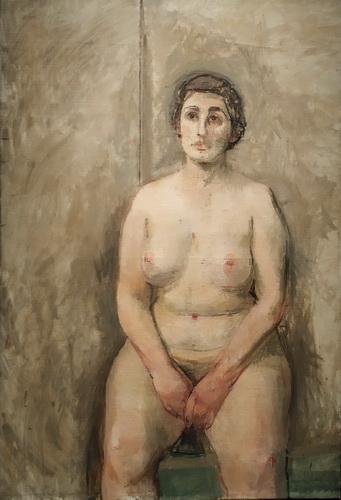 Уильям Колдстрим. Сидящая обнаженная. 1952-1953. Холст, масло. Галерея Тейт.