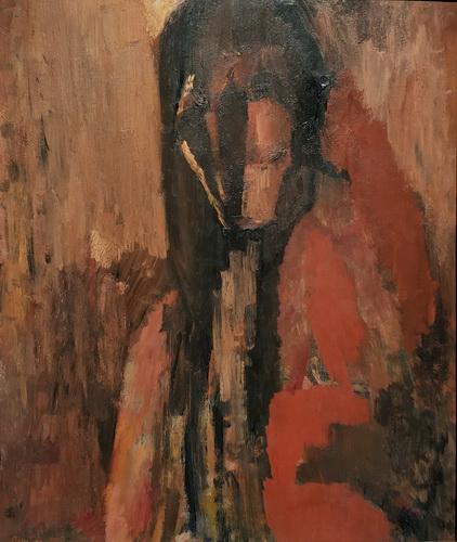 Дэвид Бомберг. Вигилант. 1955. ДВП, масло. Галерея Тейт.