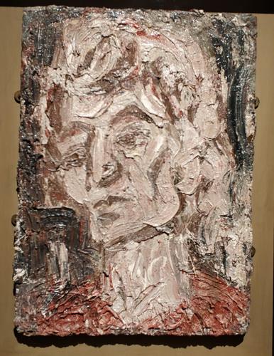 Леон Коссоф (р. 1928). Портрет Анны. 1993. Оргалит, масло. Галерея Тейт.