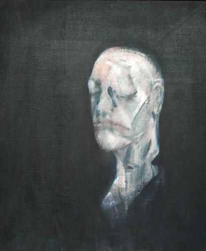 Фрэнсис Бэкон. Этюд к портрету II (по посмертной маске Уильяма Блейка). 1955. Холст, масло. Галерея Тейт.