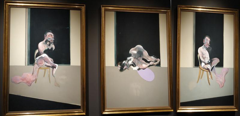 Фрэнсис Бэкон. Триптих. 1972. Холст, масло, песок. Галерея Тейт.