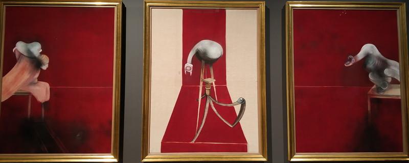 Фрэнсис Бэкон. Вторая версия триптиха 1944 года. 1988. Холст, масло, акрил. Галерея Тейт.