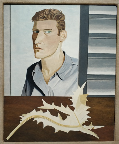 Люсьен Фрейд. Мужчина с чертополохом (Автопортрет). 1946. Холст, масло. Галерея Тейт.