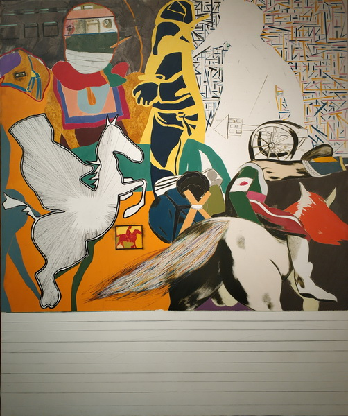 Рон Б. Китай. Исаак Бабель скачет с Будённым. 1962. Холст, масло. Галерея Тейт.
