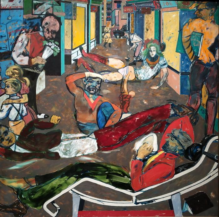 Рон Б. Китай. Сесил Корт, Лондон WC2 (Беженцы). 1983-1984. Холст, масло. Галерея Тейт.