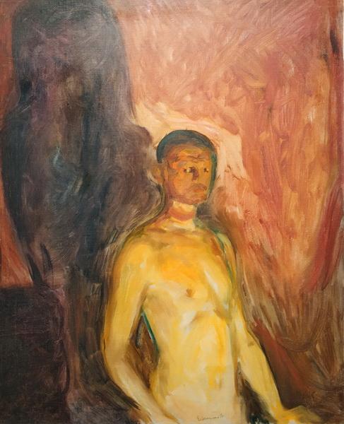 Эдвард Мунк. Автопортрет в аду. 1903. Холст, масло. Музей Мунка, Осло.