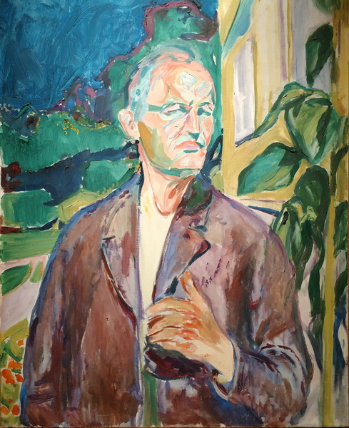 Эдвард Мунк. Автопортрет у стены дома. 1926. Холст, масло. Музей Мунка, Осло.