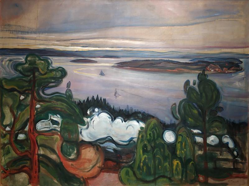 Эдвард Мунк. Дым поезда. 1900. Холст, масло. Музей Мунка, Осло.