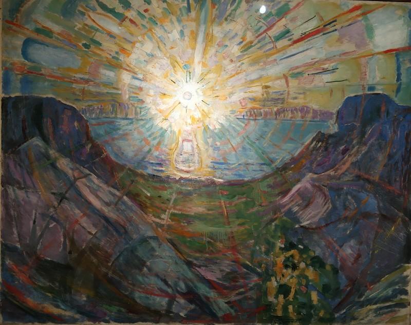 Эдвард Мунк. Солнце. 1910-13. Холст, масло. Музей Мунка, Осло.