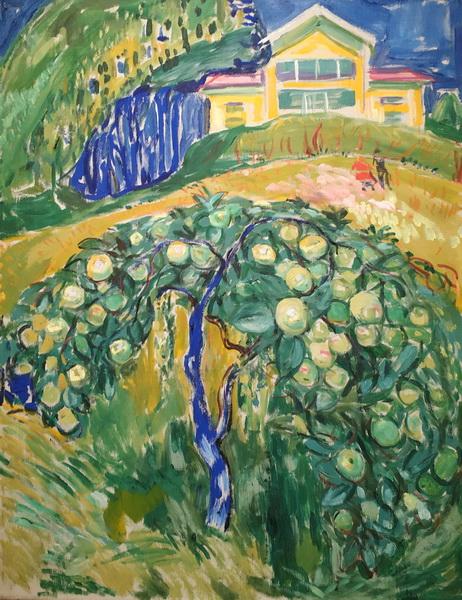 Эдвард Мунк. Яблоня в саду. 1932-42. Холст, масло. Музей Мунка, Осло.