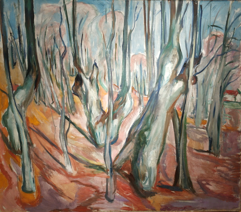Эдвард Мунк. Вязовый лес весной. 1923-25. Холст, масло. Музей Мунка, Осло.