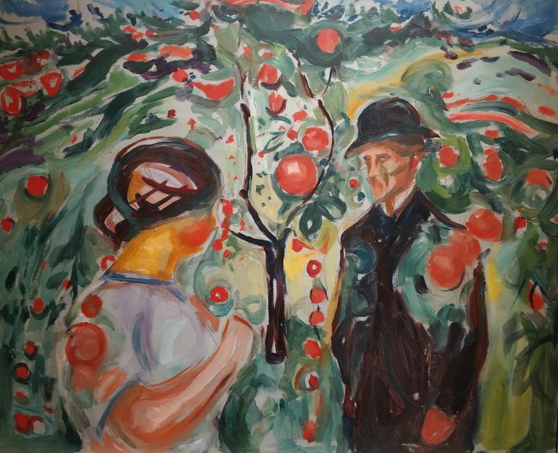 Эдвард Мунк. Под яблоней. 1927-30. Фанера, масло. Музей Мунка, Осло.