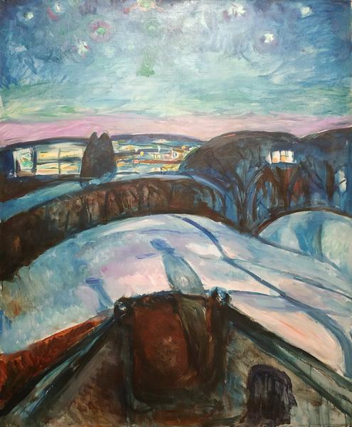 Эдвард Мунк. Звездная ночь. 1922-24. Холст, масло. Музей Мунка, Осло.