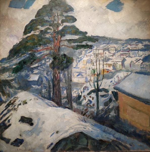 Эдвард Мунк. Зима в Крагерё. 1912. Холст, масло. Музей Мунка, Осло.