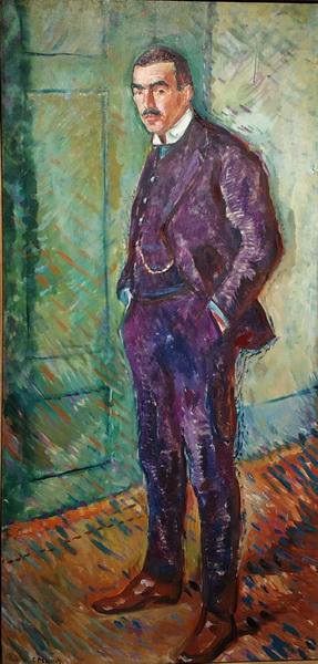 Эдвард Мунк. Яппе Нильсен. 1909. Холст, масло. Музей Мунка, Осло.