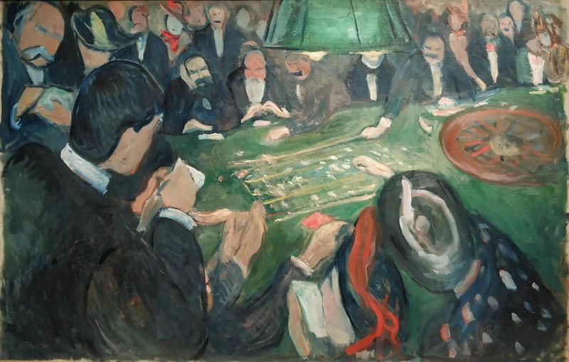 Эдвард Мунк. За рулеткой в Монте-Карло. 1892. Холст, масло. Музей Мунка, Осло.