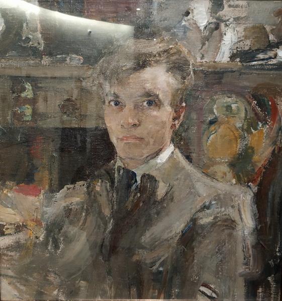 Николай Фешин (1881 – 1955). Автопортрет. 1920. Холст, масло. Государственный музей изобразительных искусств Республики Татарстан.
