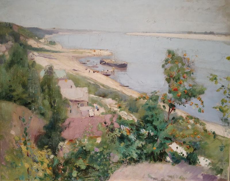 Павел Беньков. На Волге. Ташёвка. 1914-1915. Холст, масло. Частное собрание.