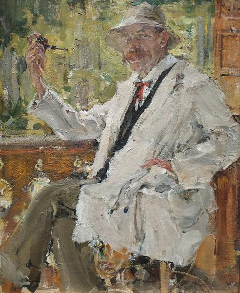 Николай Фешин. Портрет В.С.Богатырева. 1916. Музей-квартира И.И.Бродского.