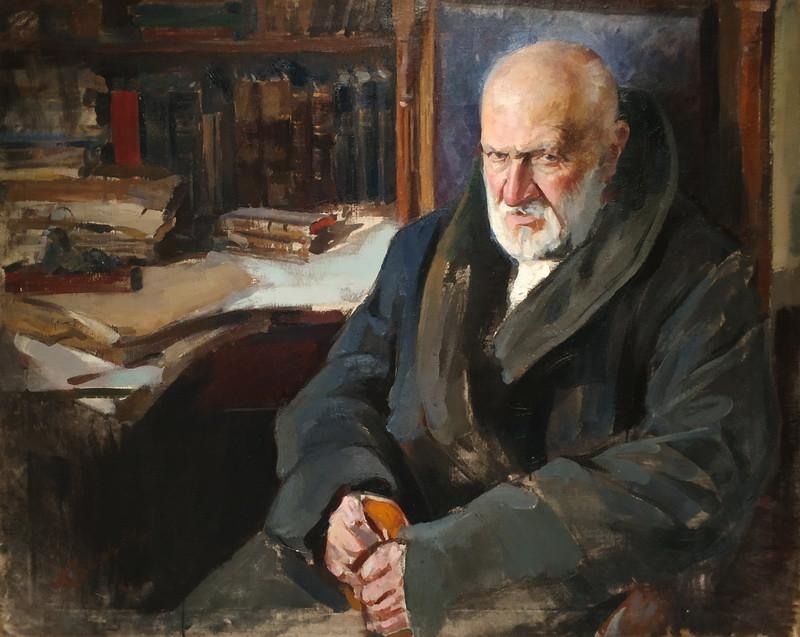 Павел Беньков. Портрет историка П.В.Траубенберга. 1926. Холст, масло. Частное собрание.