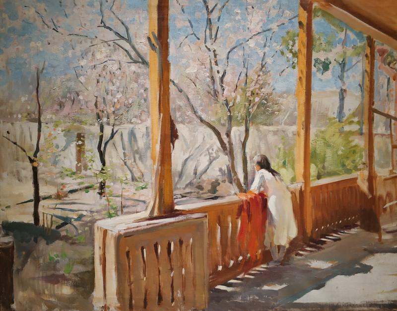 Павел Беньков. Весна. 1943. Холст, масло. Собрание Государственного музея Востока.