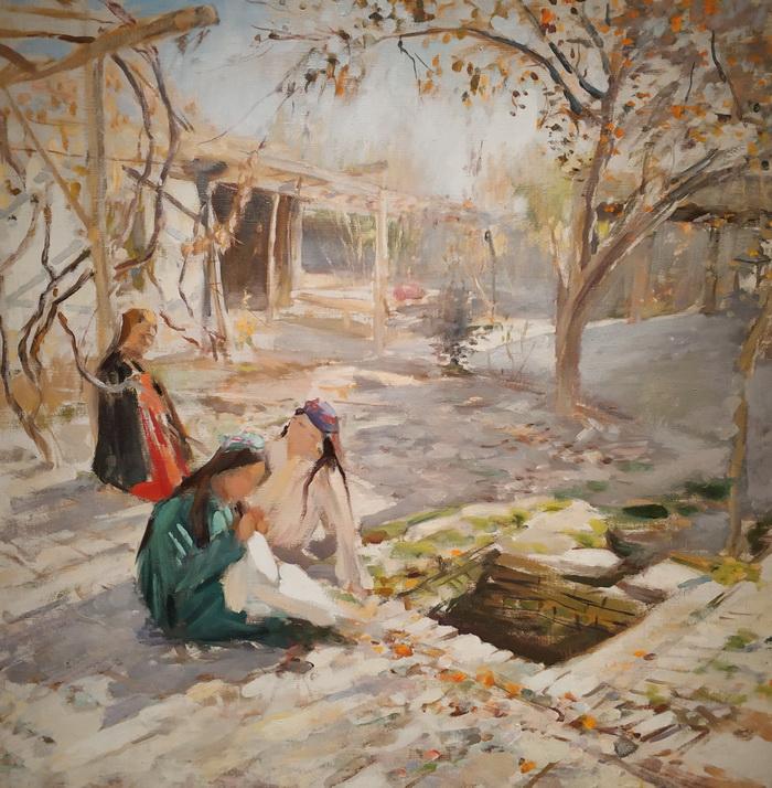 Павел Беньков. Дворик. Самарканд. 1946. Холст, масло. Частное собрание, Москва.