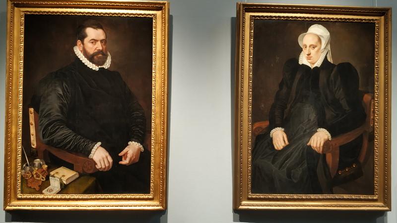 Адриан Томас Кей. Мужской и женский портреты. 1573.