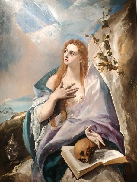 Эль Греко. Кающаяся Мария Магдалина. 1576-1577. В собрании Ивана Щукина до 1907. Ныне в Музее изобразительных искусств, Будапешт.