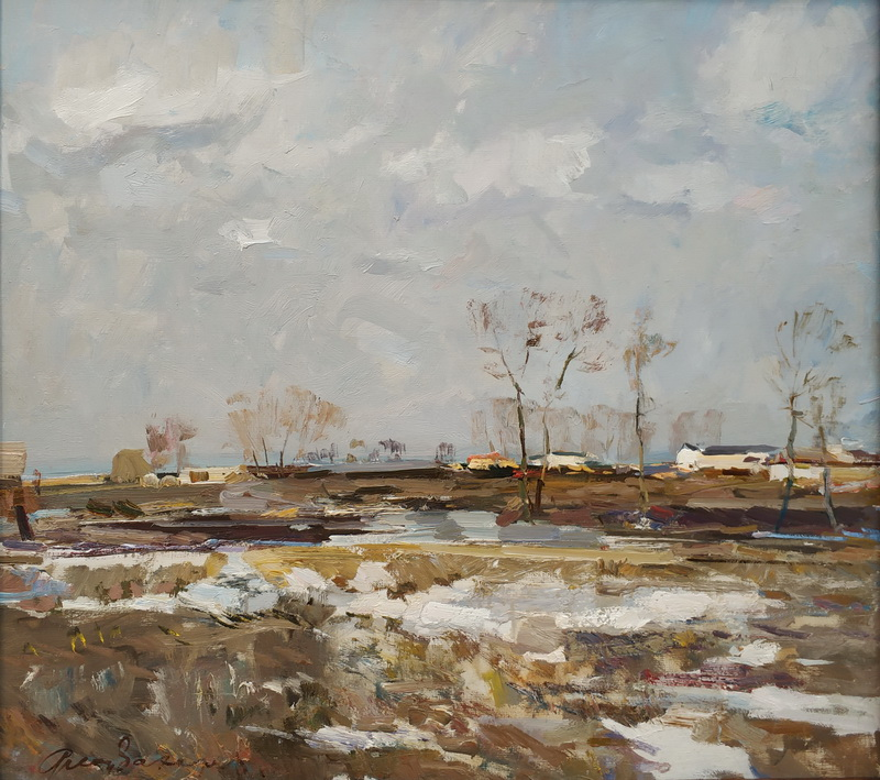 Ф.Захаров. Весной в порту. 1953. Фанера, масло. ГТГ.