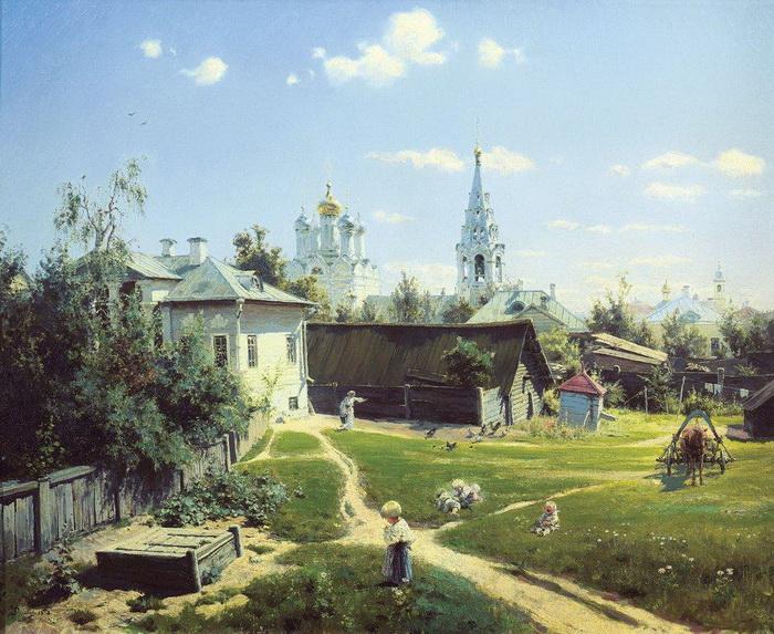 В. Д. Поленов. Московский дворик. 1878.