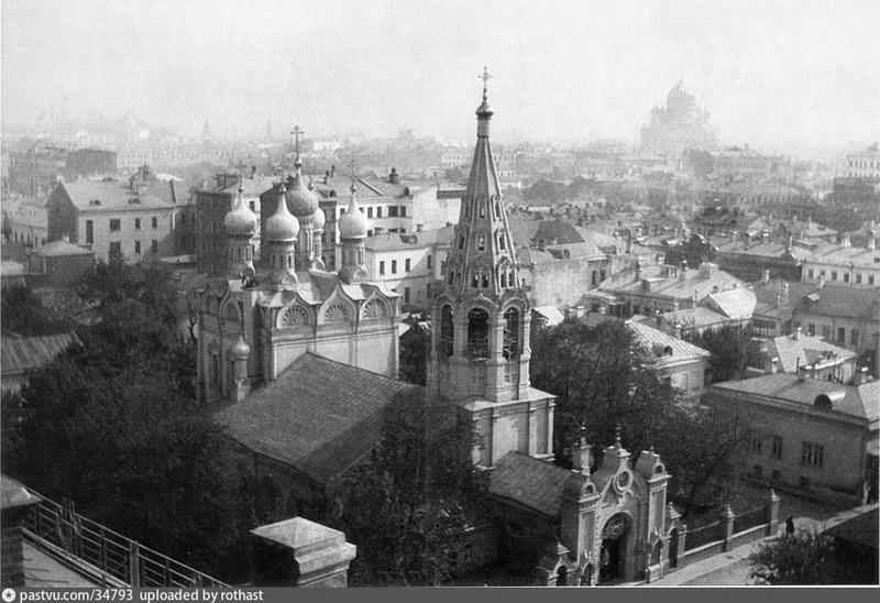 Храм Спаса Преображения Господня на Песках. Фото 1908-1910 гг.