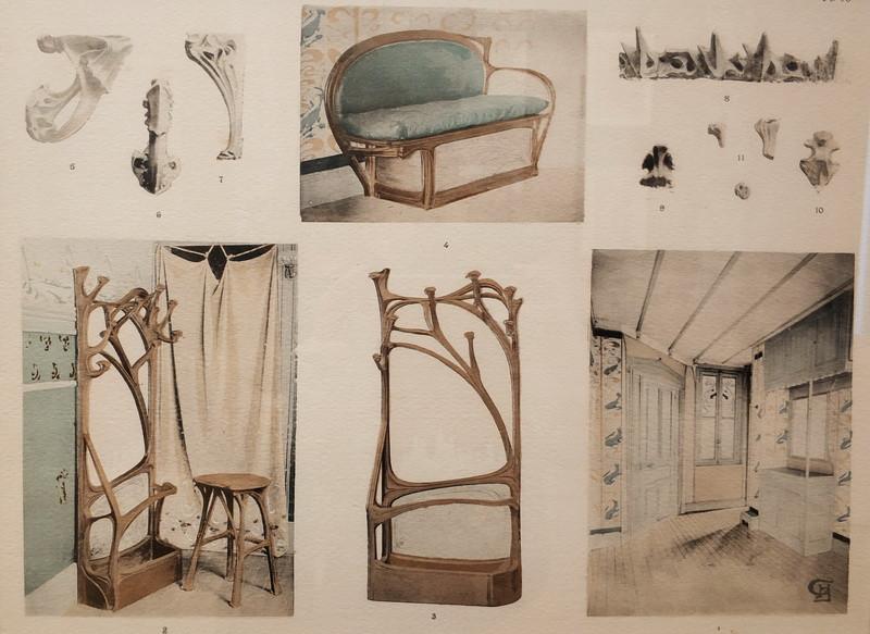 Гимар Эктор. Доходный дом «Замок Беранже». Предметы мебели для салона. Из альбома «Замок Беранже». 1898 г.