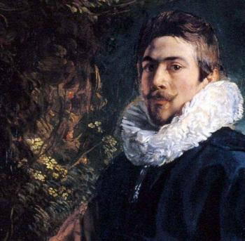 Якоб Йорданс. Автопортрет (фрагмент картины «Семья Йорданс в саду»), 1621 г. Музей Прадо, Мадрид, Испания.