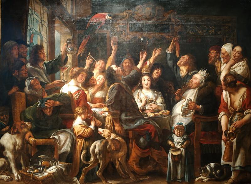 Якоб Йорданс (Мастерская). Пир короля. Начало 1660-х. Холст, масло. Пермская государственная художественная галерея.