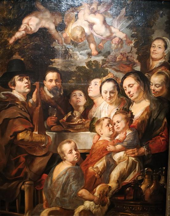 Якоб  Йорданс. Автопортрет с родителями, братьями и сестрами. Около 1615, переписан в конце 1630-х – первой половине 1640-х. ГЭ.