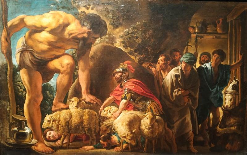 Якоб Йорданс. Одиссей в пещере Полифема. Около 1635. Холст, масло. ГМИИ им. А.С.Пушкина.
