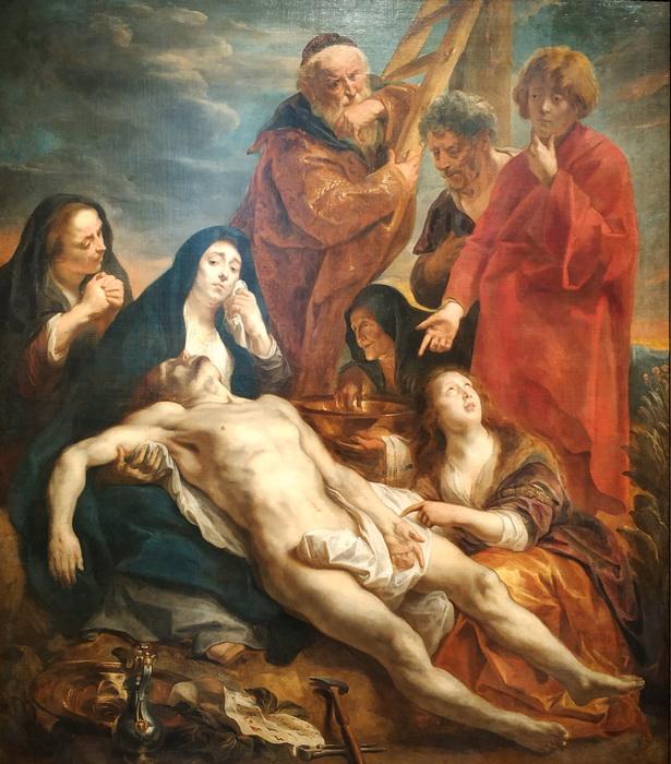 Якоб Йорданс. Оплакивание Христа. 1650. Холст, масло. ГЭ.
