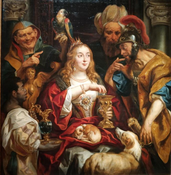 Якоб Йорданс. Пир Клеопатры. 1653. Холст, масло. ГЭ.