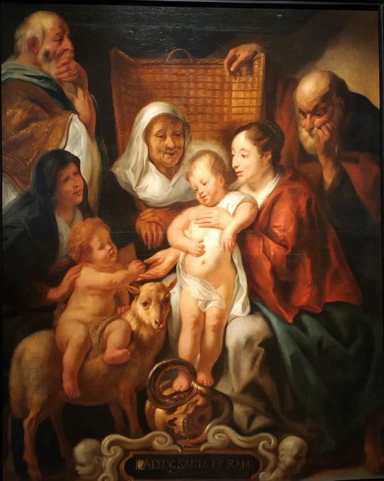Мастерская Якоба Йорданса. Святое Семейство. 1650-е – начало 1660-х. Холст, масло. ГЭ.