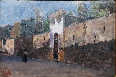 Мариано Фортуни. Улица Гранателло в Портичи. 1874. Дерево, масло. Собрание Виды-Муньос, Альмерия.