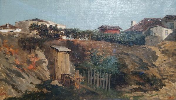 Мариано Фортуни. Пейзаж Портичи. 1874. Холст, масло. Национальный музей искусств Каталонии, Барселона.