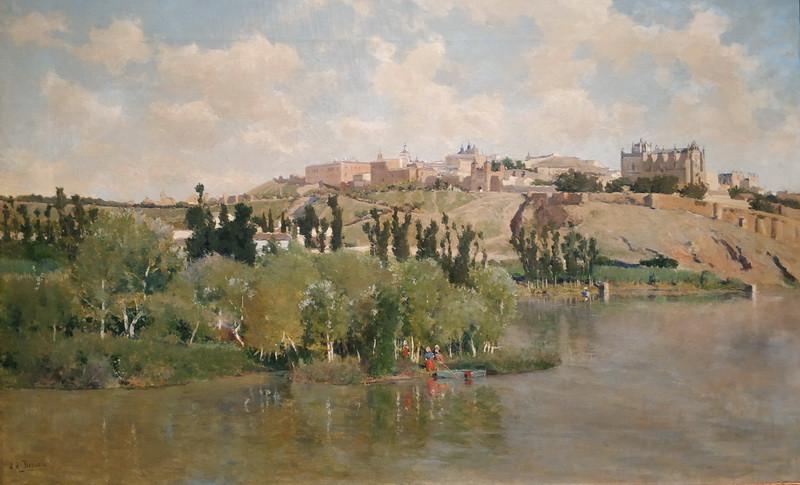 Аурелиано де Беруэте-и-Морет. Вид на Толедо из предместья Сигарралес. Около 1895.  Холст, масло. Музей Санта-Крус, Толедо.