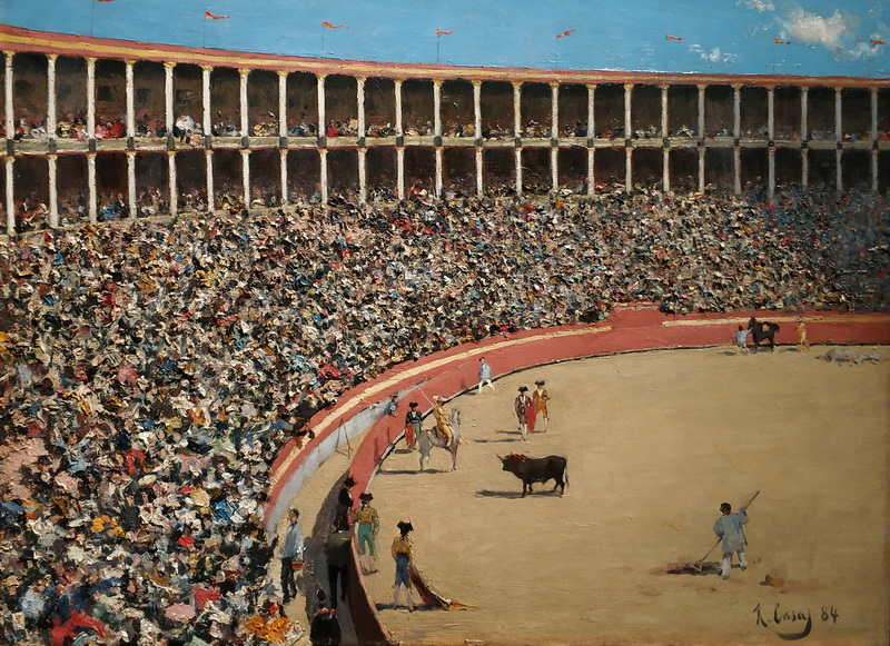 Рамон Казас. Арена для боя быков. Барселона. 1884. Холст, масло. Музей Монсеррата, аббатство Монсеррат.