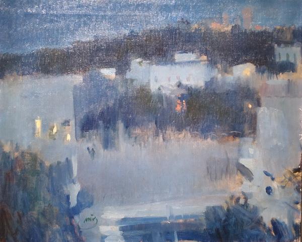 Жоаким Мир. Ноктюрн. Замок Бельвер (Мальорка). 1900. Холст, масло. Частное собрание, Барселона.