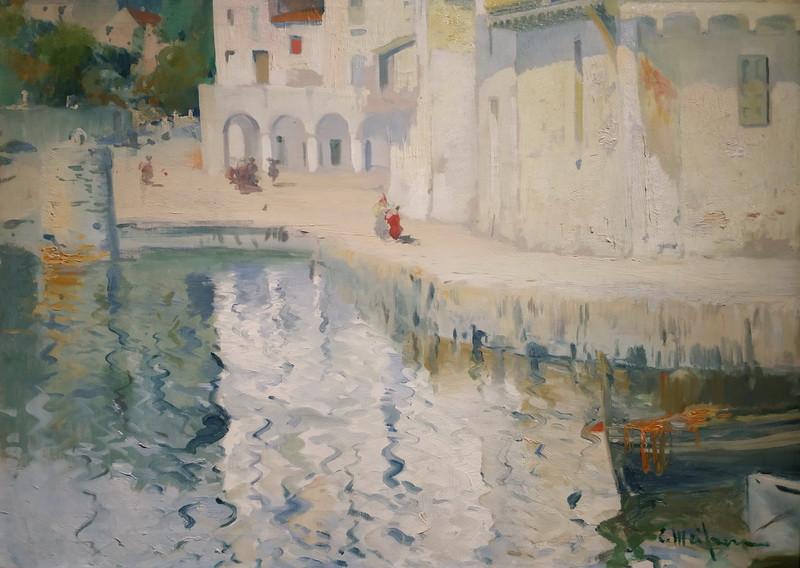Элисеу Мейфрен. Пляж Риба-д'Эл-Поал. Около 1902. Холст, масло. Частное собрание, Барселона.